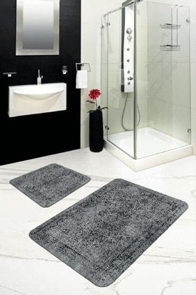 RugViva Dijital Banyo Halısı Klozet Takımı 2'li Paspas Seti Bs239 50x80cm + 50x50cm 0