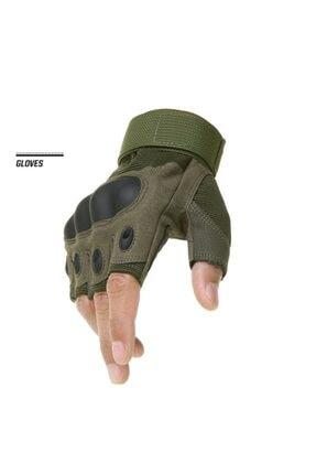 REEBOW TACTICAL Tactical Askeri Kesik Parmak Kemik Eldiven Operasyon Eldiveni Haki 1