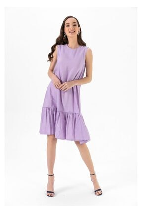 Tiffany A0263 Keten Salaş Elbise 0