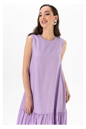 Tiffany A0263 Keten Salaş Elbise 2