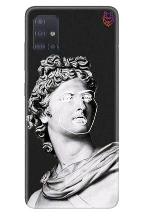 Wolf Dizayn Samsung Galaxy A51 - Siyah Silikon - Statue 2 0