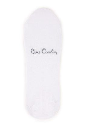 Pierre Cardin Erkek Beyaz Babet Çorap 2