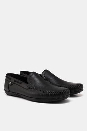 Hotiç Hakiki Deri Siyah Erkek Loafer 3