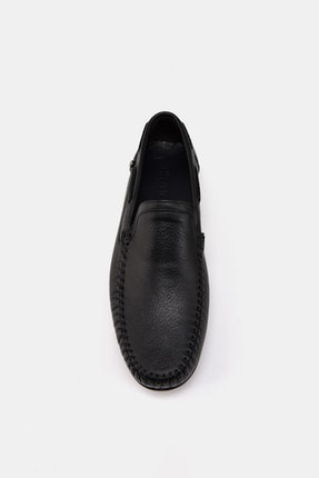 Hotiç Hakiki Deri Siyah Erkek Loafer 4