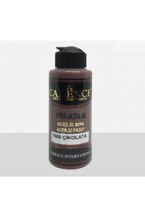 Cadence Boya Premium Yarı Mat Akrilik Boya 7585 Çikolata 120 Ml 0