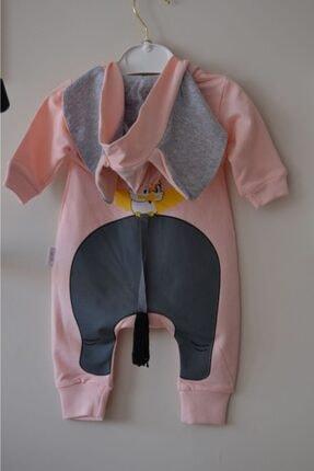 Aist Kids Gölgebebe Fil Detay Kız Bebe Tulum 1