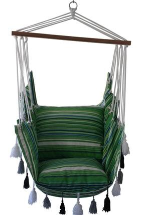 ALTINOLUK HAMAK Altınoluk Sandalye Salıncak Yeni Püsküllü ( Bej ) 4