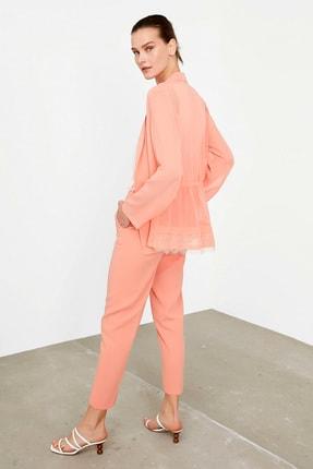 İpekyol Kadın Turuncu Dantel Şeritli Ceket IS1200005243019 4