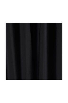 Taç Blackout Karartma Fon Perde Ekstraforlu Düz Dikiş - Siyah 200x260 0