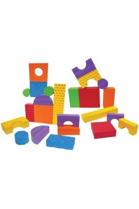 Elele Eva Yapı 64 Parça 6 Farklı Renk Ve Yüzey Blokları 0