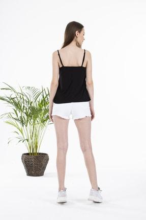 Çıtı Pıtı Siyah Yakası Dantelli Ayarlanabilir Ip Askılı Bluz 4