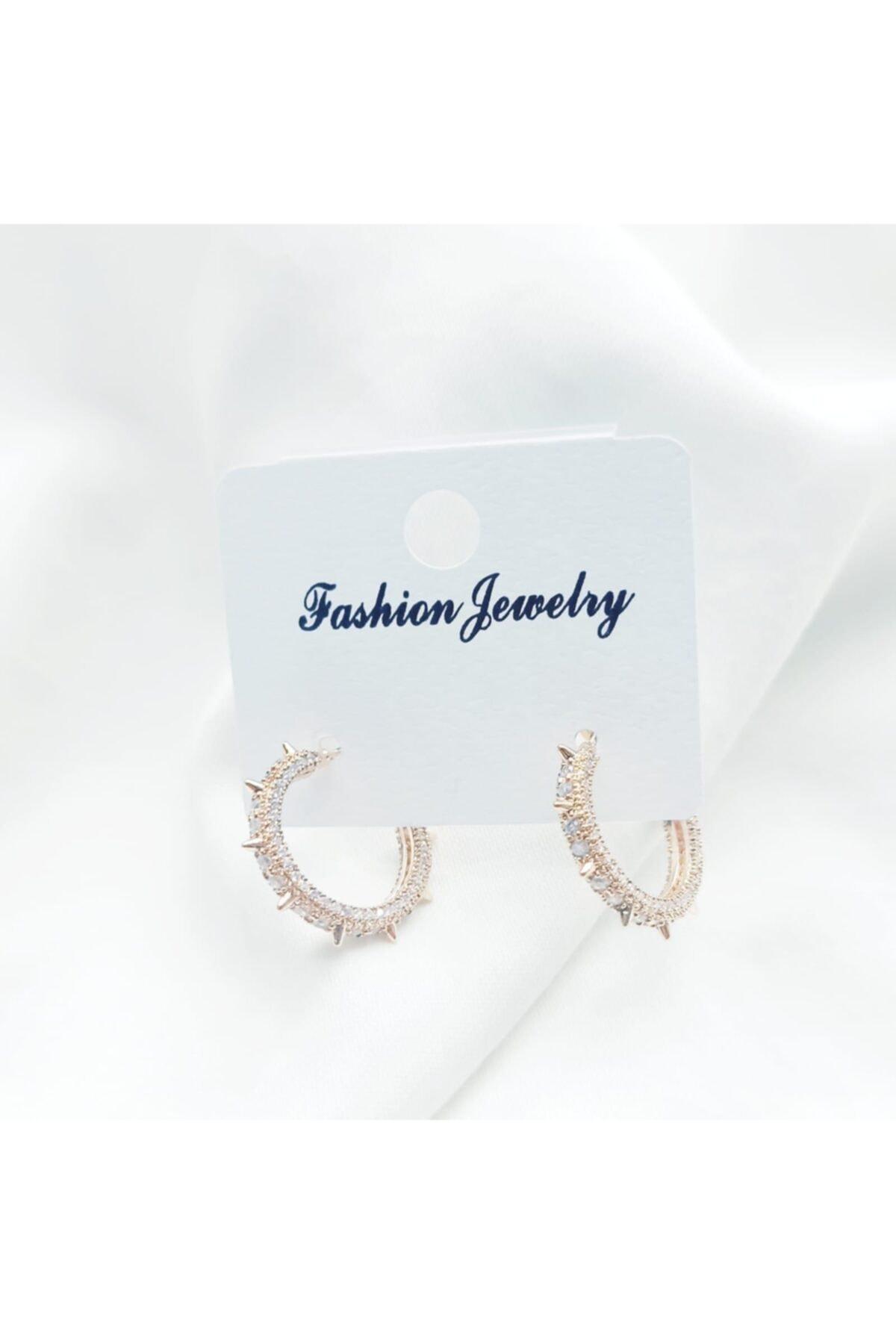 Fashion Jewelry Kadın Küpe Rodyum Kaplama