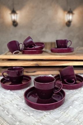 Tulü Porselen Kahve Fincan Takımı 6 Kişilik 1