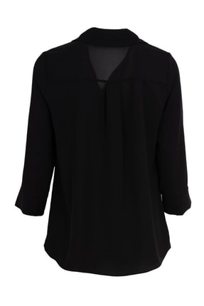 Ayhan Gömlek Yaka Bluz - 81285 Siyah 1