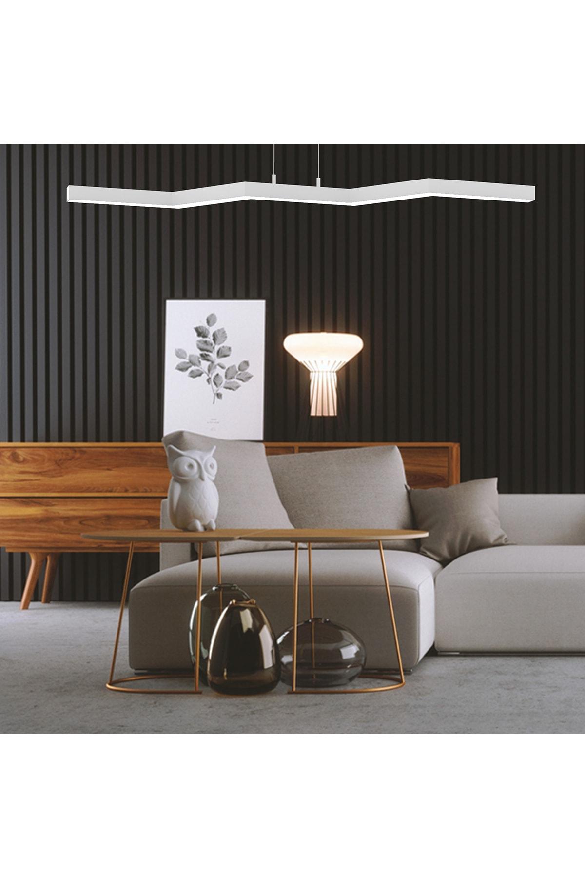 ZİGZAG (Beyaz Kasa-Gün Işığı) LED Avize