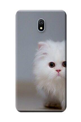 Kılıfmerkezi Xiaomi Redmi 8a Kılıf Redmı-8a Desen Baskılı Silikon Beyaz Kedi Stk:139 0