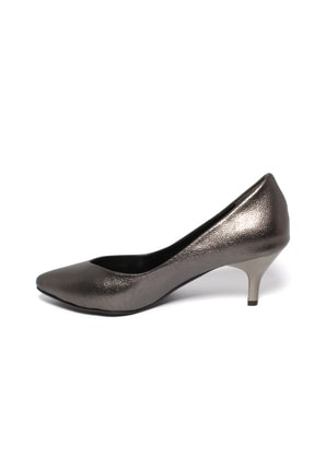 İncimoda Kadın Platin Ince Topuklu Ayakkabı 2