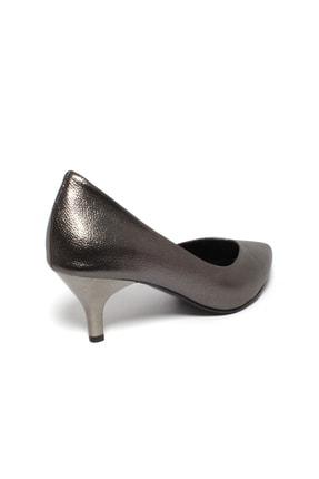 İncimoda Kadın Platin Ince Topuklu Ayakkabı 3
