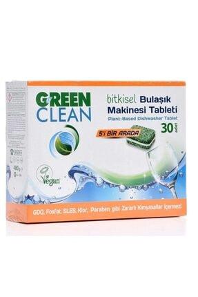 Green Clean Bulaşık Makinesi Organik Bitkisel Tablet (30 Adet) X 2 Adet 0