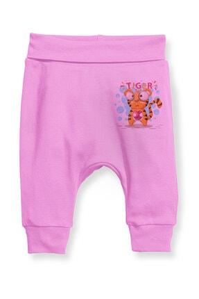 Angemiel Baby Kalp Tutan Kaplan Kız Bebek Şalvar Pantalon Pembe 0