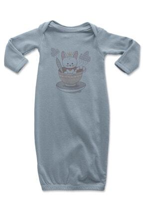 Angemiel Baby Kasedeki Tatlı Tavşan Erkek Bebek Uyku Tulumu Mavi 0
