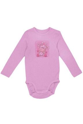 Angemiel Baby Benekli Şirin Inek Kız Bebek Uzun Kollu Zıbın Pembe 0