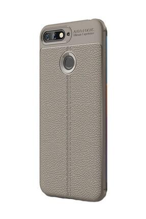 KNY Huawei Y7 2018 Kılıf Deri Desenli Lux Niss Silikon+cam Ekran Koruyucu 0
