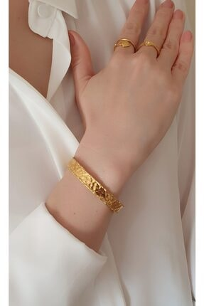 Helen Jewels Helen Dövme El Yapımı Altın Kaplama Kadın Bileklik 1cm Genişlik 0