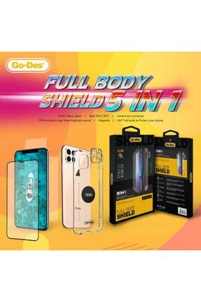 Go-Des Iphone Se 2020 5li Set Kılıf Kamera Lens Ön Arka Ekran Koruyucu 1