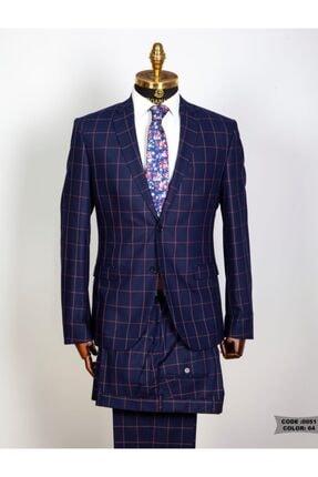 , Kareli Takım Elbise, Lacivert (zg00051) ZG00051
