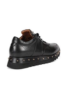 Sofia Baldi Kadın Anaya Siyah Deri Pimli Sneaker 3