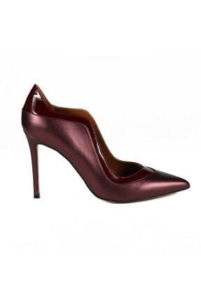 تصویر از Desarae Bordo Deri Kadın Stiletto & Abiye Ayakkabı