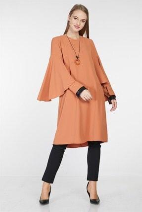 Nihan Kadın Kol Nervür Detaylı Tunik Tarçın 9A3027 2