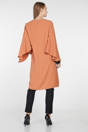 Nihan Kadın Kol Nervür Detaylı Tunik Tarçın 9A3027 4
