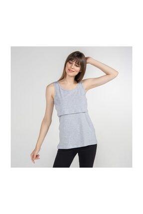 Funna Baby Atlet Yaka Emzirme T-Shirt - Paola - Gri 4
