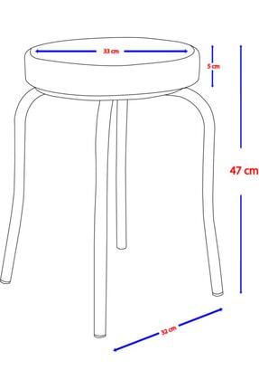 Clkdizayn Metal Çemberli Demir Tabure - 4 Adet 2