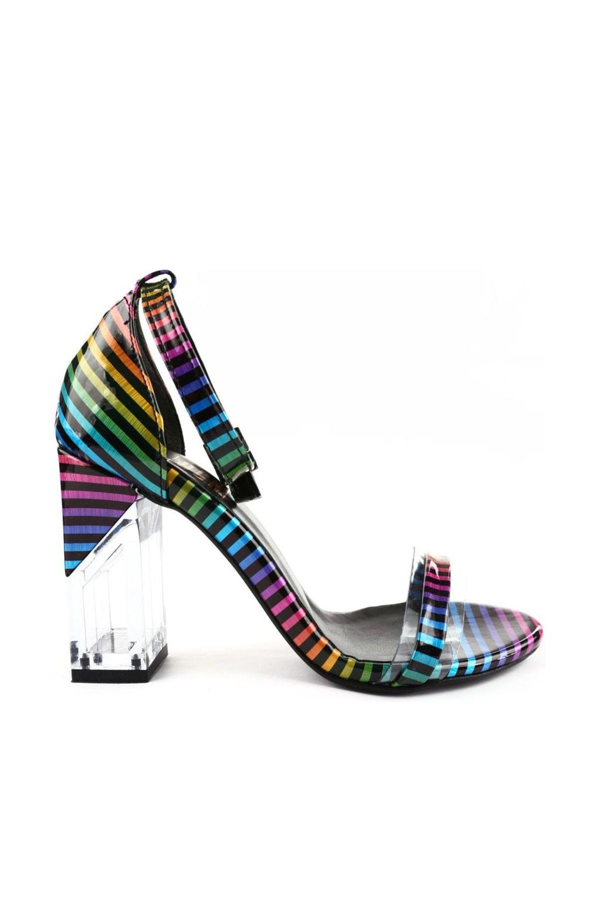 DGN Milenyum Rugan Kadın Topuklu Ayakkabı