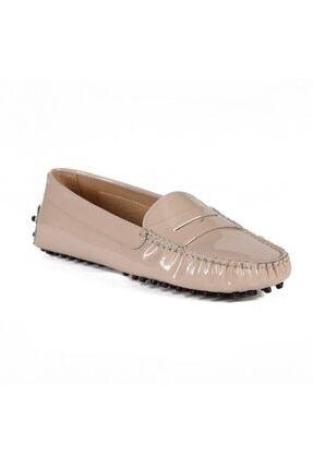 Sofia Baldi Kadın Colover Bej Rugan Loafer Ayakkabı 1