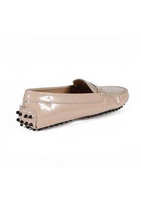 Sofia Baldi Kadın Colover Bej Rugan Loafer Ayakkabı 3