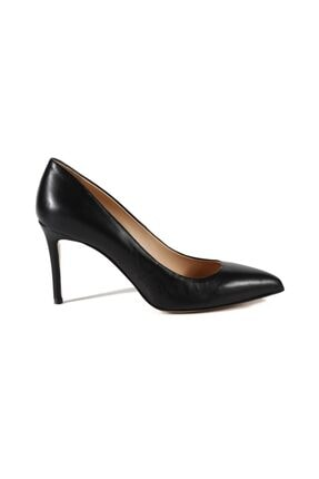 تصویر از Faye Siyah Deri Kadın Stiletto & Abiye Ayakkabı