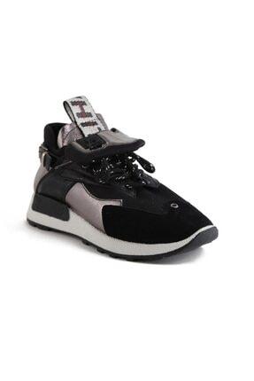 Sofia Baldi Kadın Afra Siyah/gümüş Vegan Bağcıklı Spor Ayakkabı 1