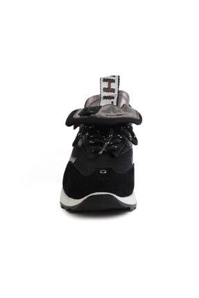 Sofia Baldi Kadın Afra Siyah/gümüş Vegan Bağcıklı Spor Ayakkabı 2