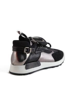Sofia Baldi Kadın Afra Siyah/gümüş Vegan Bağcıklı Spor Ayakkabı 3