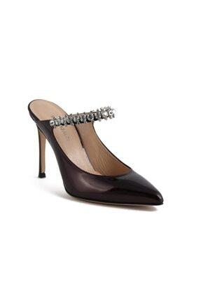 تصویر از Magnolıa Bordo Rugan Taşlı Kadın Stiletto & Abiye Ayakkabı