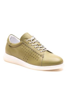 GRADA Fıstık Yeşili Deri Günlük Casual Kadın Ayakkabı 0