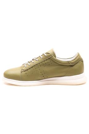 GRADA Fıstık Yeşili Deri Günlük Casual Kadın Ayakkabı 2