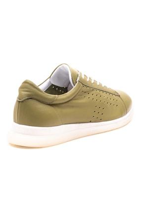 GRADA Fıstık Yeşili Deri Günlük Casual Kadın Ayakkabı 3