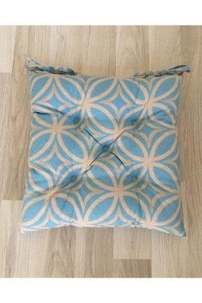 Bykutlay Home Collection Sandalye Minderi mavi Desenli, 40*40 Cm. 0