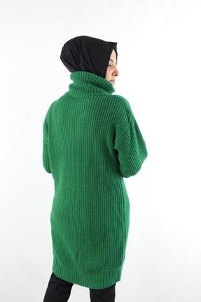 Duha Store Boğazlı Triko Tunik Yeşil 2