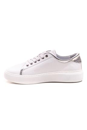 GRADA Beyaz Gümüş Hakiki Deri Günlük Spor Kadın Ayakkabı 1